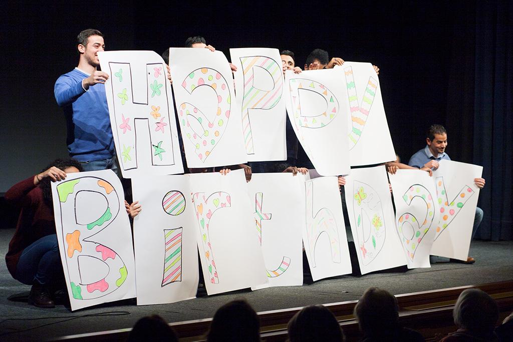 Поздравление классного руководителя с днем рождения в классе